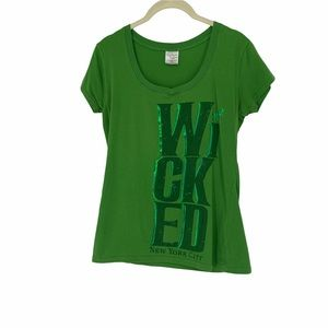 Wicked Broadway play Green for good tshirt L
